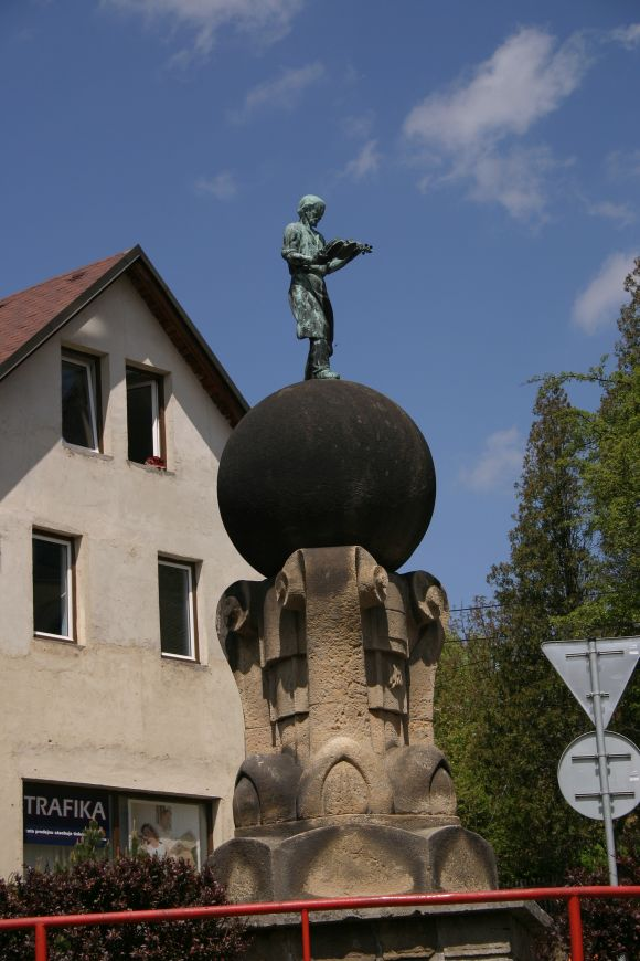 Sight Seeing: This statue commands the city center at Luby, Czech Republic.