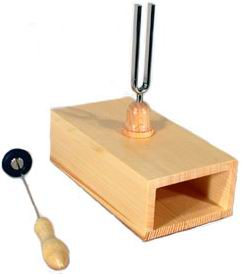 Tuning fork with resonator box small size