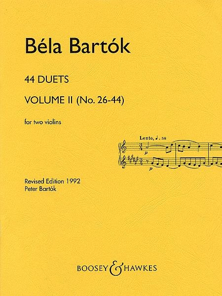 Bartok: 44 Duets for Two Violins, Volume 2