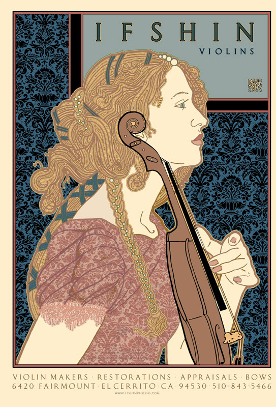 Ifshin Violins Poster by David Lance Goines