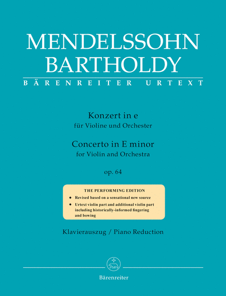 Mendelssohn Violin Concerto in e minor, Op 64