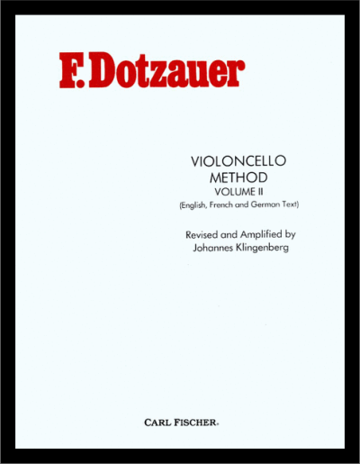 Dotzauer Violoncello Method Volume 2