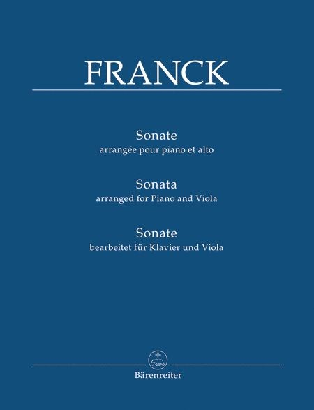 Franck: Violin Sonata arranged for Viola and Piano