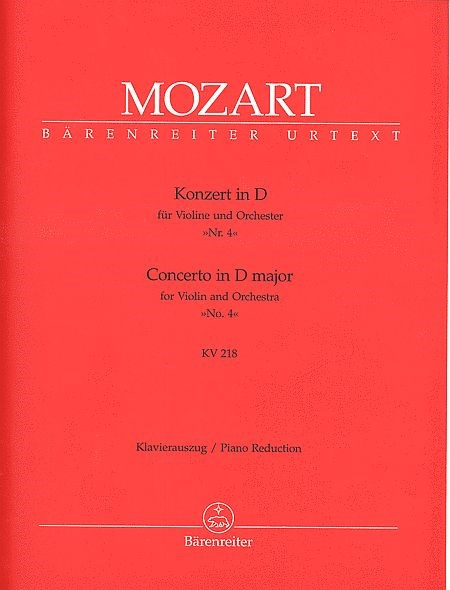 Mozart Violin Concerto in D, No 4, K.418