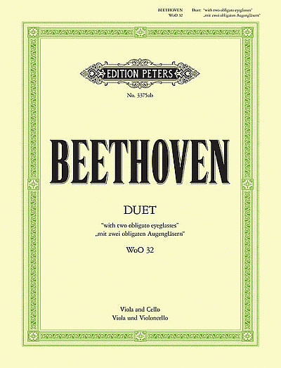 "Beethoven: Duet ""with 2 obligato Eyeglasses"" for Viola and Cello"