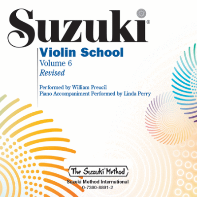Suzuki Violin School, Volume 6 CD - William Preucil