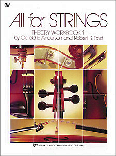 All For Strings, Theory Workbook 1 for Cello