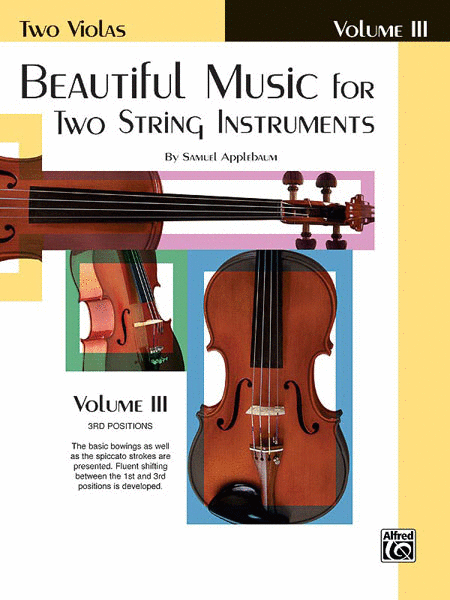 Beautiful Music For Two String Instruments, Viola Book 3