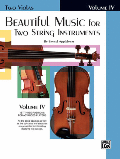 Beautiful Music for Two Strings Instruments, Viola Book 4