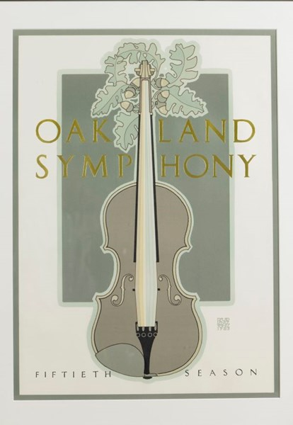 Oakland Symphony by David Lance Goines