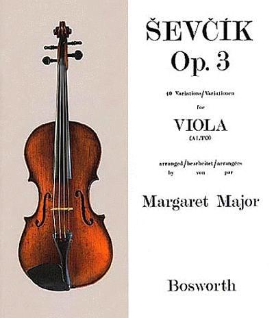Sevcik: Op 3, 40 Variations for Viola