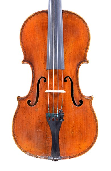 Fine French violin, labeled Vuillaume
