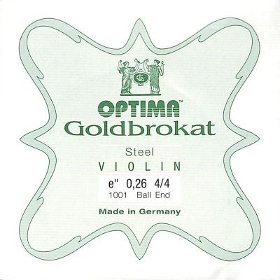 Goldbrokat Violin E, medium, ball end