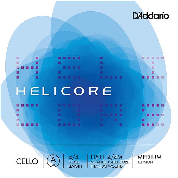 Helicore 4/4 Cello A, titanium/steel, medium