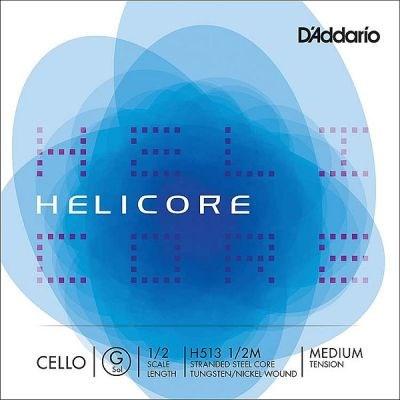 Helicore 1/2 Cello G, tungsten-silver/steel, medium