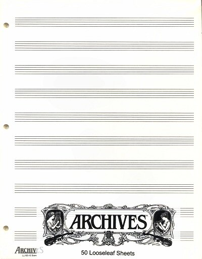 10 staves loose leaf music paper - single sheet