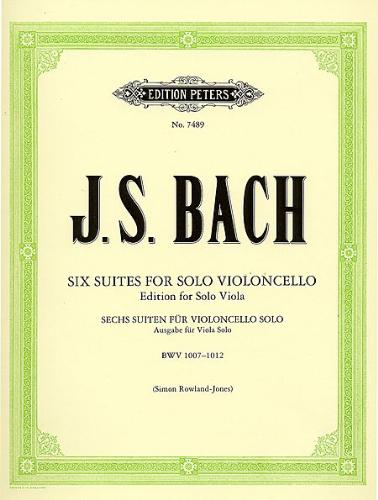 Bach: Six Suites for Solo Cello, arranged for Viola