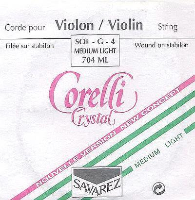 Crystal 4/4 Violin G, light