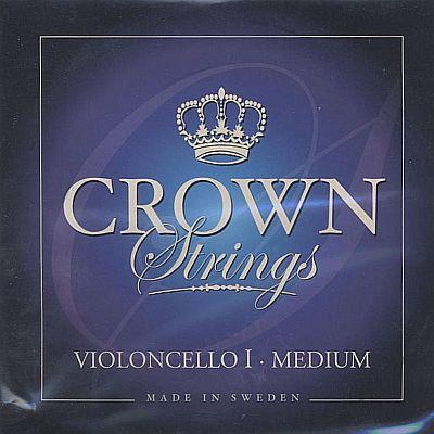 Crown 4/4 Cello Set, steel, medium