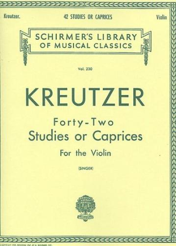 Kreutzer: 42 Studies or Caprices