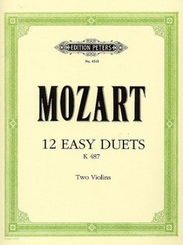 Mozart: 12 Duos for 2 Violins, K. 496A