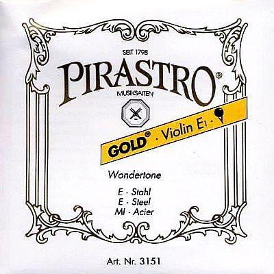 Goldlabel 4/4 Violin E, ball end, mittel