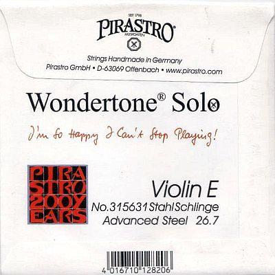 Wondertone Solo Violin E, advanced steel, loop end, stark