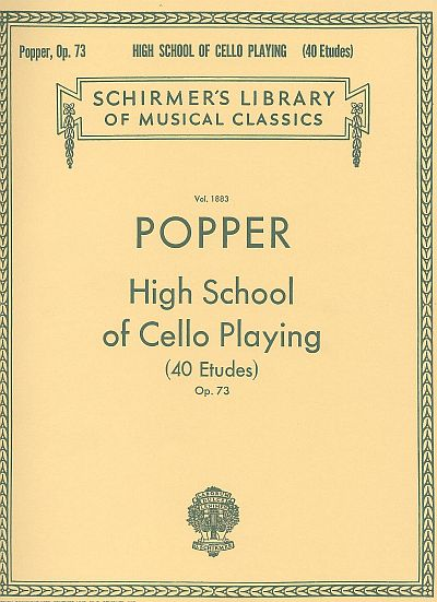 Popper's High School of Cello Playing