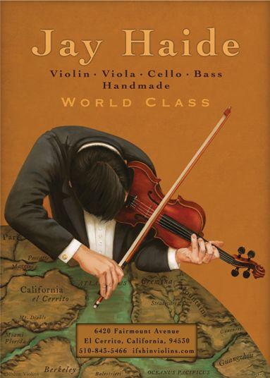 Jay Haide world class violin Poster