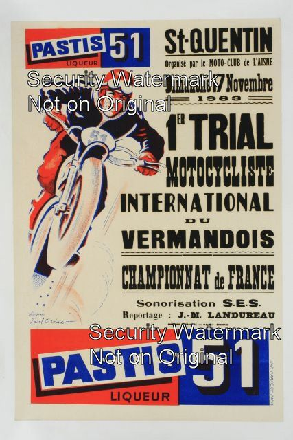 Pastis 51 - Premier Trial Motocycliste