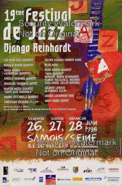 19eme Festival de Jazz - Django Reinhardt