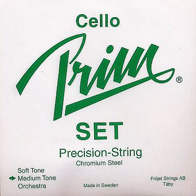 Prim 4/4 Cello Set, steel, medium