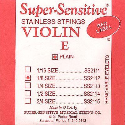 Supersensitive Red Label 1/8 Violin E