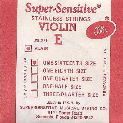 Supersensitive Red Label 1/16 Violin E