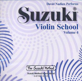 Suzuki Violin School, Volume 4 CD - David Nadien