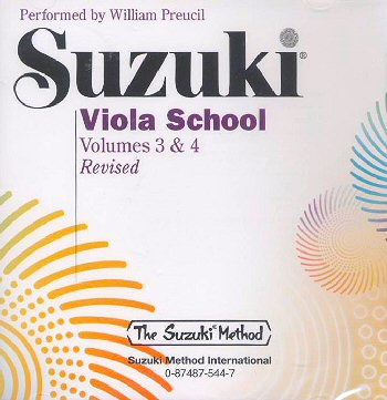 Suzuki Viola School, Volume 3 & 4 CD