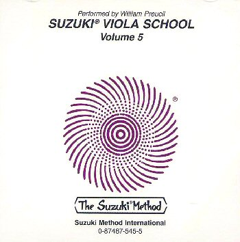 Suzuki Viola School, Volume 5 CD
