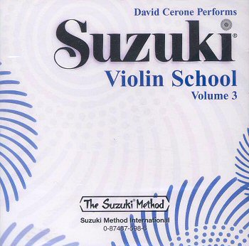 Suzuki Violin School, Volume 3 CD - David Cerone