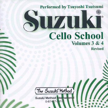 Suzuki Cello School, Volumes 3 & 4 CD
