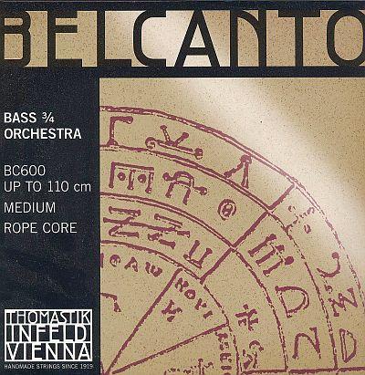 Belcanto 3/4 Bass Set, chrome/steel, medium