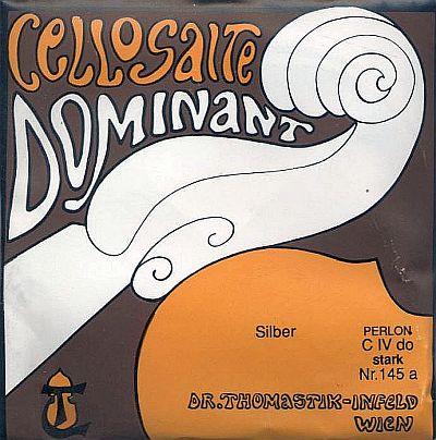 Dominant 4/4 Cello C, silver/perlon, stark