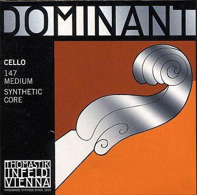 Dominant Cello Set, Chrome/Perlon