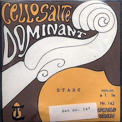 Dominant Cello Set, Chrome/Perlon, Stark