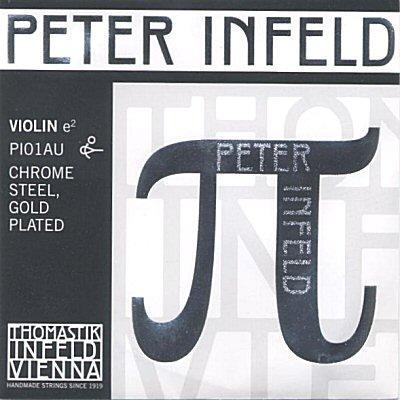 Peter Infeld 4/4 Violin E, chrome/gold