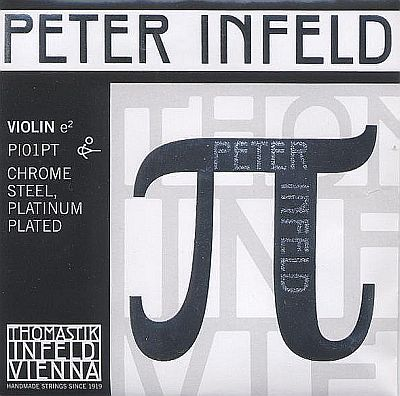 Peter Infeld 4/4 Violin E, chrome/platinum