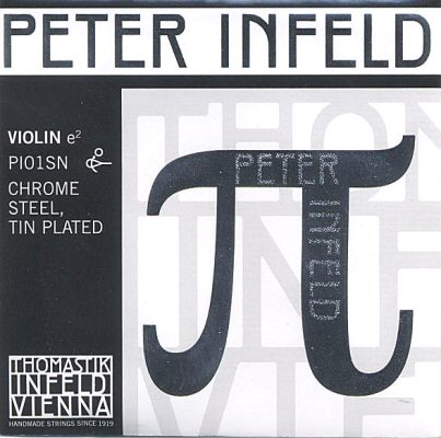 Peter Infeld 4/4 Violin E, chrome/tin