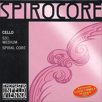 Spirocore 4/4 Cello Set, chrome/steel, medium