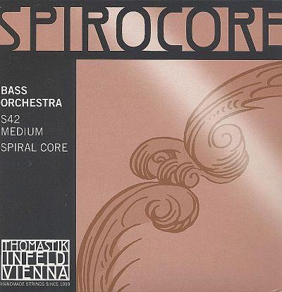 Spirocore 3/4 Bass Set, chrome/steel, medium