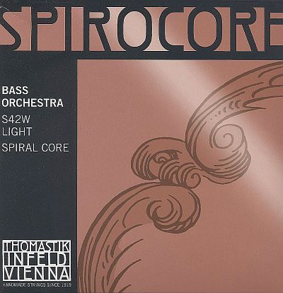 Spirocore 3/4 Bass Set, chrome/steel, weich