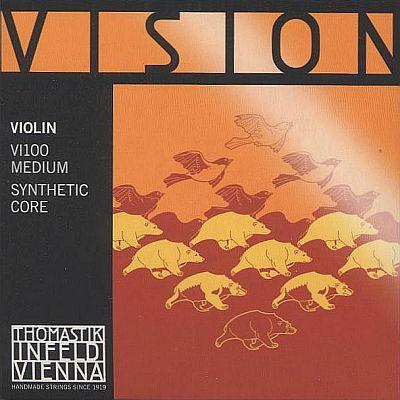 Vision 4/4 Violin Set, mittel, w/silver D